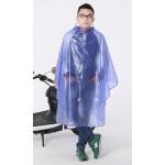 PVC - Regenponcho Regencape Fahrrad Motorroller AY0013blue blau transparent weiße Punkte