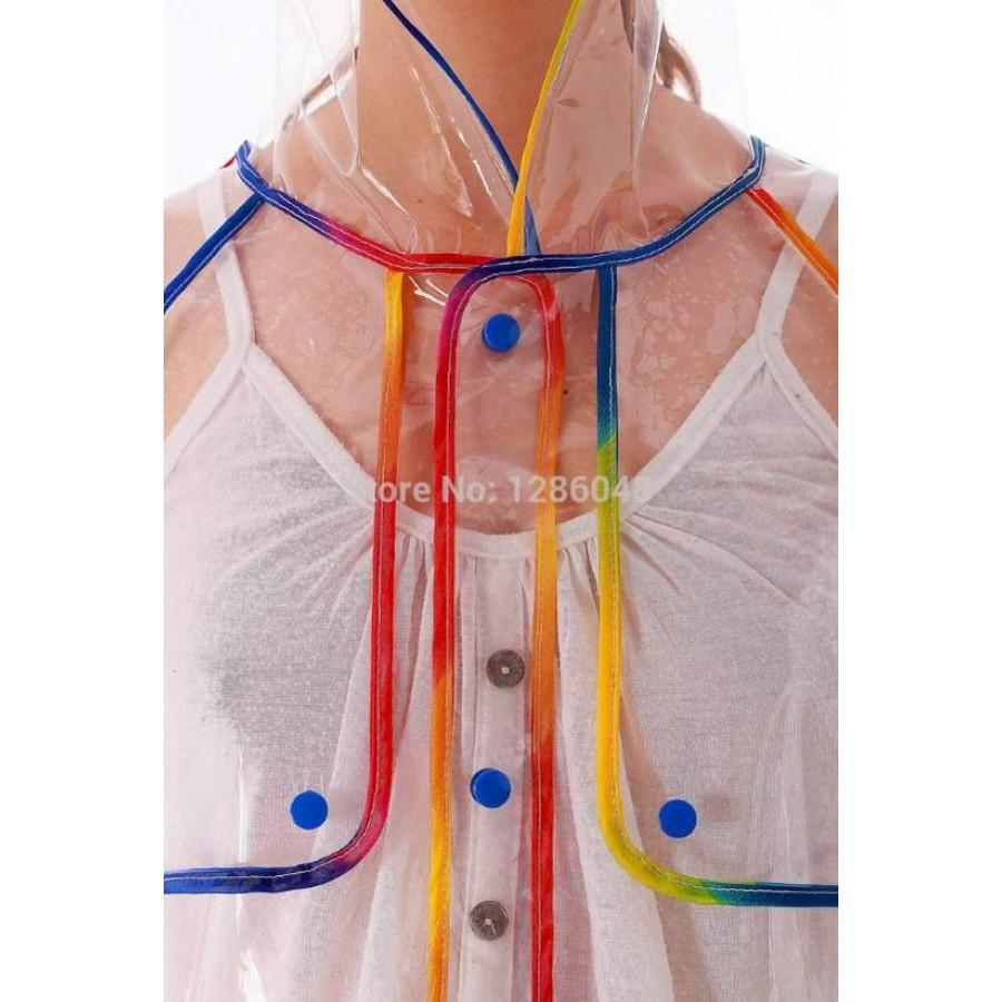 Glasklar Plastik Mantel Regenmantel Fashion L Type Damen xgT6YgSq