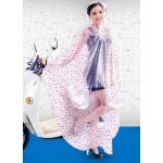 PVC - Poncho für Motorrad Mofa Motorroller Fahrrad KY0013herz transparent rote Herzen - LAGERWARE