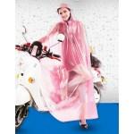 PVC - Poncho für Motorrad Mofa Motorroller Fahrrad KY0013pink Pink transparent weiße Punkte - LAGERWARE