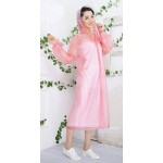 PVC Plastik - Mantel Regenmantel Damen QA9015PT pink transparent gepunktet