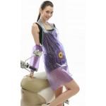PVC - Schürze mit Armschutz lila mit Punkte für Friseur Putzen Haushalt Basteln apronflowerpurple66
