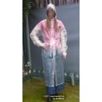 PVC Plastik Mantel Regenmantel Folienmantel Damen Retro Natur transparent JD LAGERWARE