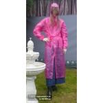 PVC Plastik Mantel Regenmantel Folienmantel Damen Retro Pink JD LAGERWARE