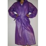 PVC Plastik Mantel Regenmantel Folienmantel Damen Retro Violet JD LAGERWARE