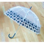 PM PVC - Regenschirm PM1016 Schwarz gepunktet glasklar EDGE-UMBRELLA LAGERWARE