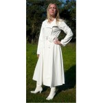 PUL PVC - Damen Mantel Regenmantel Trenchcoat DEICH4 Weiß transparent WHT1 M LAGERWARE