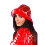 PUL PVC Plastik - Hut Regenhut HW01 REG1 Rot transparent glatt LAGERWARE