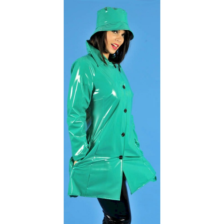pul pvc mantel regenmantel 60er style ra28 ladies sixties raincoat alle gr en farben. Black Bedroom Furniture Sets. Home Design Ideas