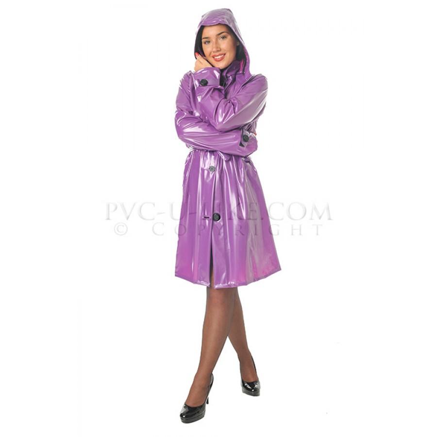 PUL PVC Alltags Mantel Regenmantel Plastikregenmantel