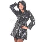 PUL PVC - Designer Regenmantel Damen Mantel kurz RA66