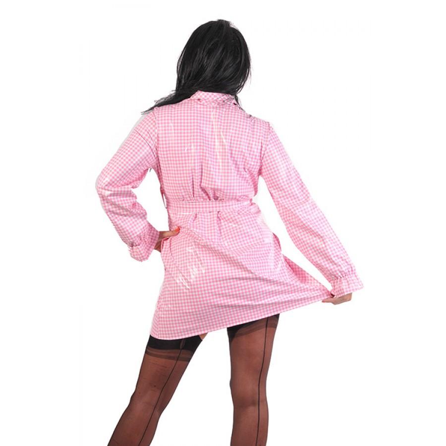 pul pvc designer regenmantel damen mantel kurz ra66. Black Bedroom Furniture Sets. Home Design Ideas