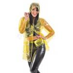 PUL PVC - Regenmantel Regenjacke Damen  RA67 FUNKY FESTIVAL COAT
