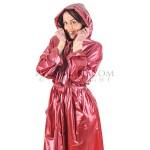 PUL PVC Plastik - Mantel Regenmantel Folienmantel RA79ms (wie RA01) REP1 bordeaux-rot - LAGERWARE