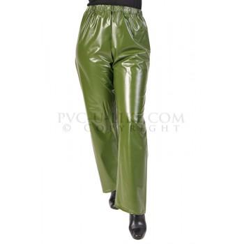 PUL PVC - Regenhose Plastik Hose TR07 Olivgrün Army GRS1 LAGERWARE
