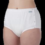 Suprima 1288 - PE/PU - Inkontinenz-Slip Schutzhose knöpfbar Schwedenknöpfer weiß