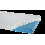 Suprima 3066 - PVC Bettauflage Bettschutz Laken Spannbetttuch weiß 100x200x20cm