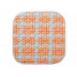 Suprima 3707-014 - Sitzauflage orange-kariert 40x50cm
