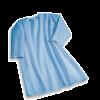 Suprima 4062-005 - Pflegehemd Baumwolle, zum Binden, Langarm blau 40/42-52/54