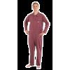 Suprima 4681 - Pflegeoverall Baumwolle/Polyester, lang, Polo-Kragen, Bein-RV