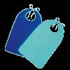 Suprima 5533 - PU Ess-Schürze zum Binden marine Polyurethan